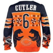 Chicago Bears Jay Cutler Official NFL Ugly Sweater - Backside